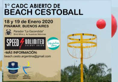 Abierto Nacional de Beach Cestoball en Pinamar