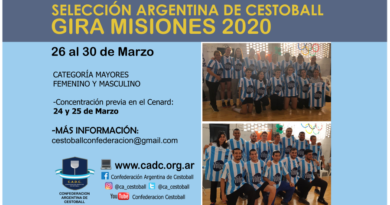 SELECCIÓN ARGENTINA DE #CESTOBALL: GIRA POR MISIONES. MARZO 2020